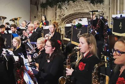 Band performing at Highcliffe Castle