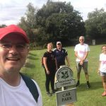 Band members starting walk in New Forest