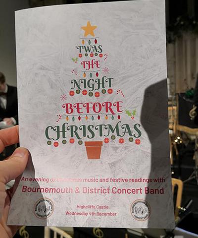 Christmas concert programme