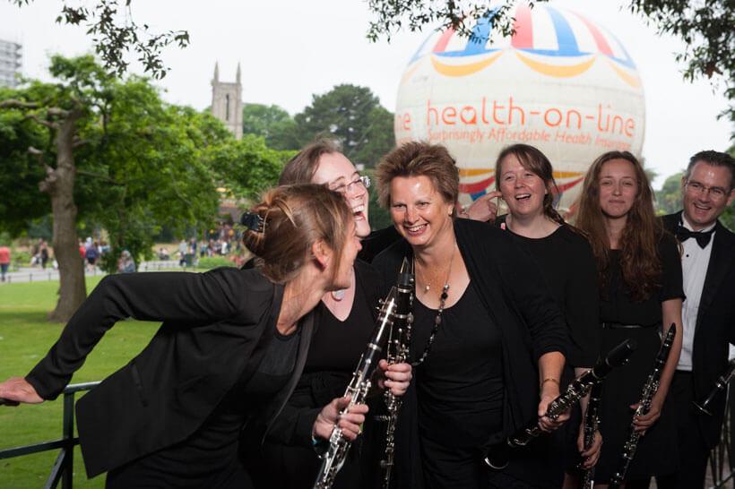 Clarinets in Bournemouth Gardens