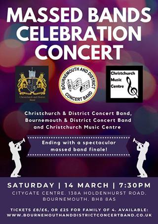 Massed bands concert poster