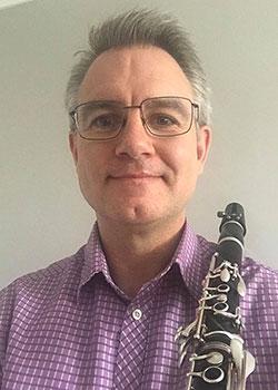 Man holding clarinet