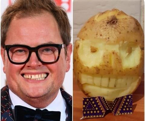 Potato sculpture like Alan Carr