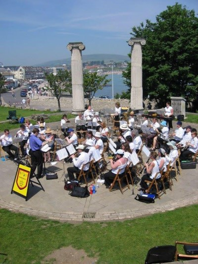 Band performing at Swanage bandstand