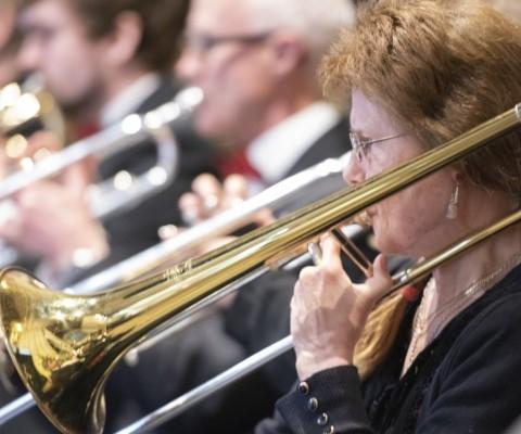 Trombone players